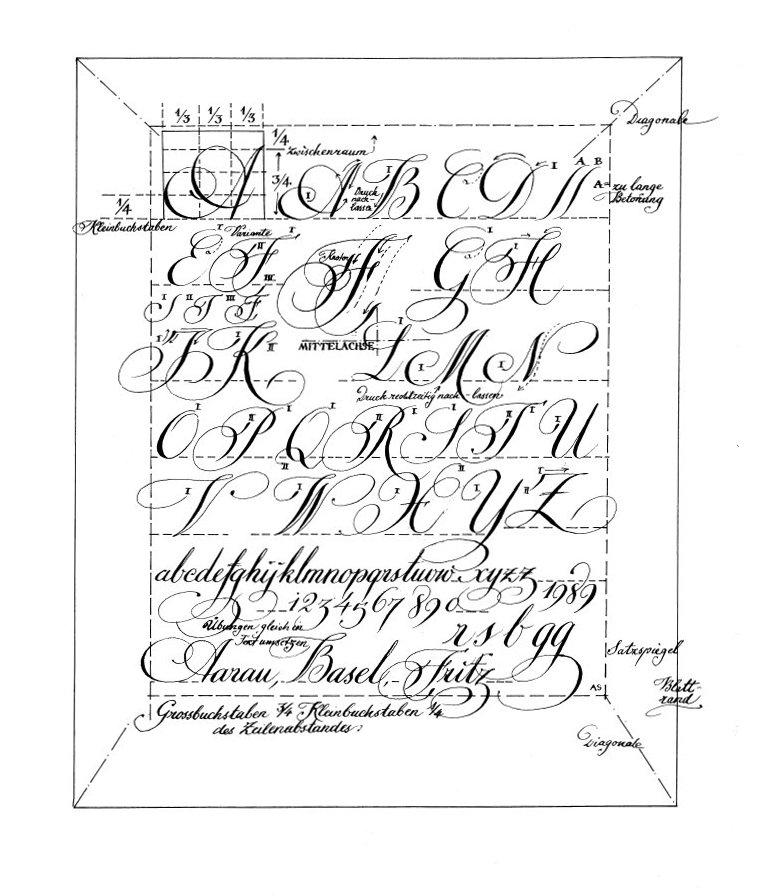 kalligraphie schriften alphabet